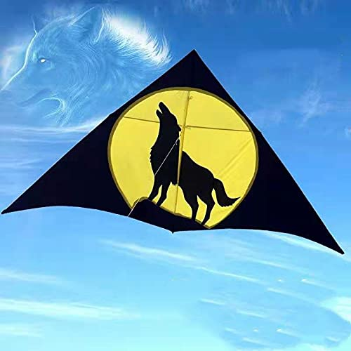 Qylfsxb kite 2.5m Large Wolf Kite Cometas Infantiles Kite Surfing Flying Outdoor Kite Reel Walk In Sky Kites For Adults Parachute