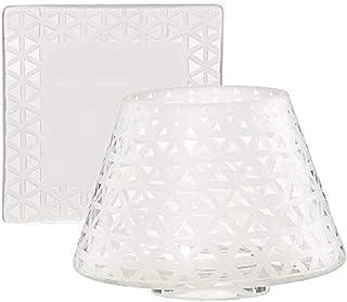 Yankee Candle Belmont Sombra pequeña y bandeja, vidrio arenado, color: blanco