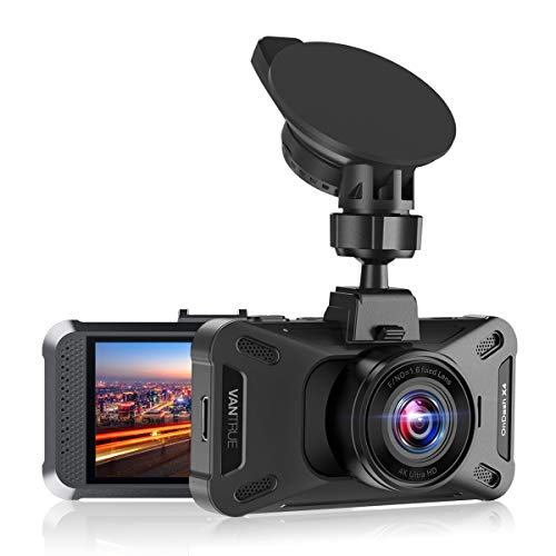 "Vantrue X4 UHD 4K 3840x2160P 30fps Dash Cam, 3"" LCD 160° Wide Angle Car Camera with 24 Hrs Parking Mode, Motion Detection, Sony Night Vision, Capacitor, Optional GPS, Support 256GB Max, Loop Recording"