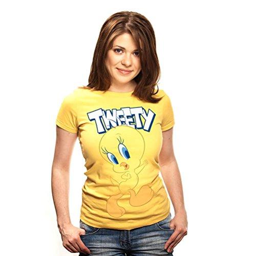 Looney Tunes Offiziell lizenzierte Frauen Tweety Pie Charakter angepasst T-Shirt