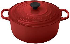 45% larger handles that provide a sure grip, even with oven mitts The superior heat distribution and retention of le creuset enameled cast iron An advanced sand-colored interior enamel with even more resistance to wear A larger composite knob that wi...