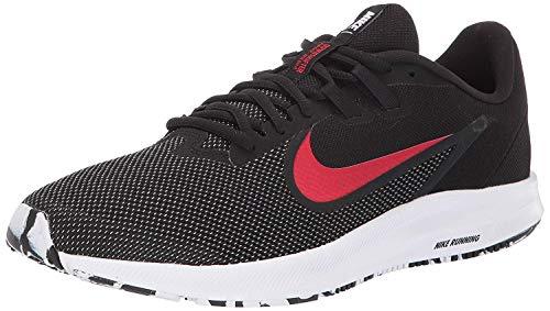 Nike Downshifter 9, Zapatillas de Atletismo para Hombre, Multicolor (Black/University Red/White 010), 40.5 EU