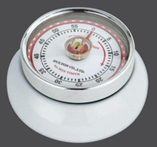 Zassenhaus 72242 Küchentimer - Kitchentimer - Eieruhr - Timer - mit Magnet Speed - Edelstahl - weiß 7 x 7 x 3 cm