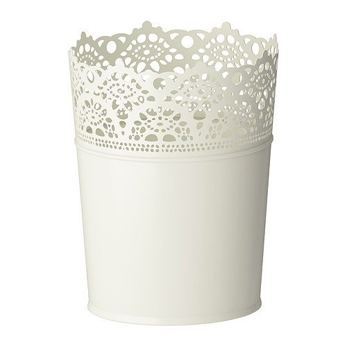 IKEA SKURAR - off Plant pot - White - 10 5 cm