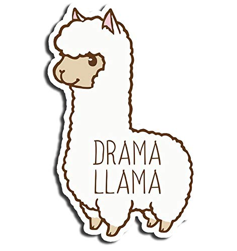 Drama Llama Sticker Cute Stickers Waterbottle Sticker Tumblr Stickers Laptop Stickers Vinyl Stickers Wantitall