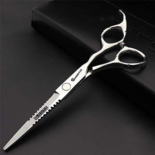 WWZEMLK Ciseaux de Coiffure Ciseaux Plats Ciseaux Ciseaux Professionnels pour Animaux de Compagnie Barber Shop Styling Trim Barber Tools, 6 Pouces Plat