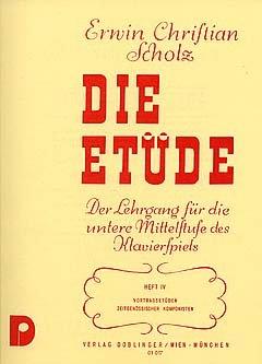 DIE ETUEDE 4 - arrangiert für Klavier [Noten / Sheetmusic] Komponist: SCHOLZ ERWIN CHRISTIAN