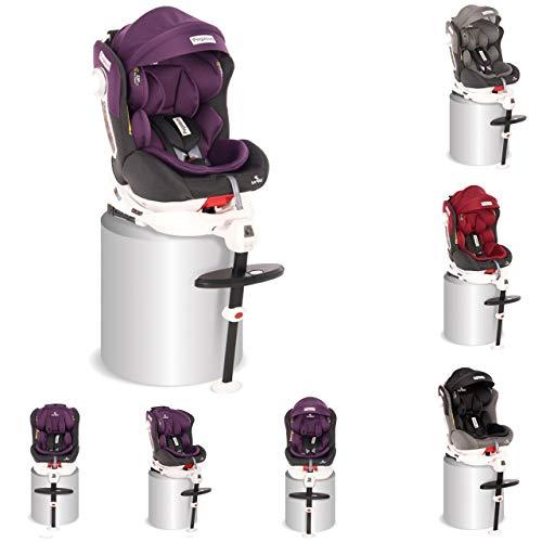 Lorelli, asiento niños Grupo Pegasus 0+/1/2/3 (0-36 kg) Isofix ajustable cojín, colores:púrpura