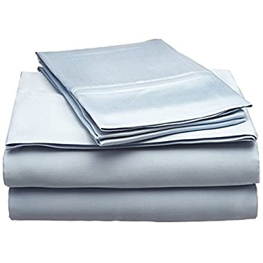 Superior 300 Thread Count King Sheet Set, 100% Modal from Beech, Solid, Light Blue