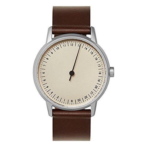 slow Round 06 - Dark Brown Leather, Silver Case, Crème Dial