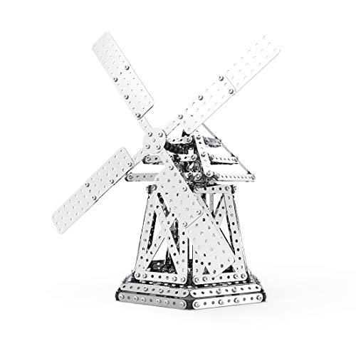 Fujinfeng 3D Metall Puzzle für Erwachsene Junge Mädchen, 751 Stück Windmühle Metal DIY Model Puzzle 3D Modellbausatz Metall 3D Kit