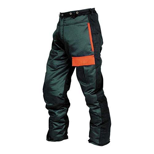 Sioen SI-S-T1SP7 ZP L - Pantalones de protección contra motosierra, talla L, color verde y naranja