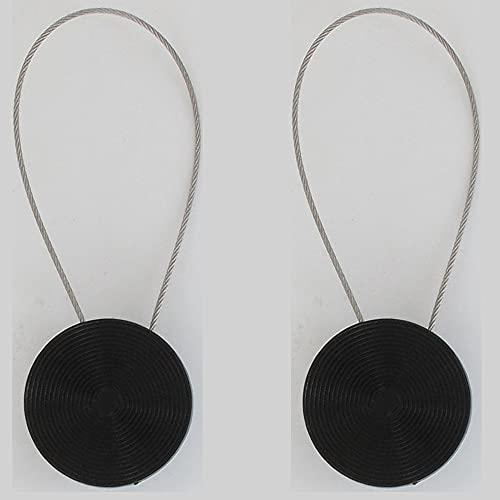 Set 2 Alzapaños para Cortinas De Metal Imantada Mandala PM - Negro