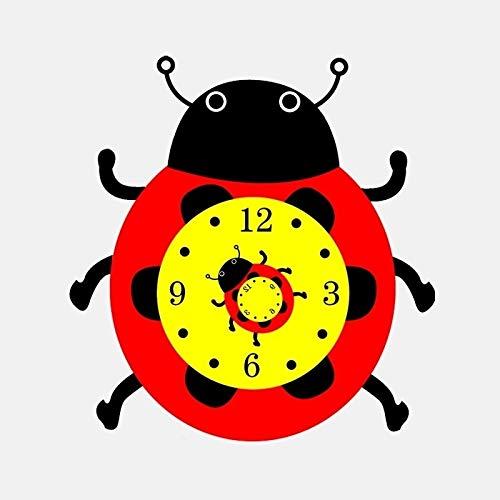 ZCZWQ 14.1cm * 14.9cm Etiqueta engomada del automóvil Personalizada Ladybug Alarma Reloj de Alarma Vinilo Color Impermeable Pegatinas de protección Solar