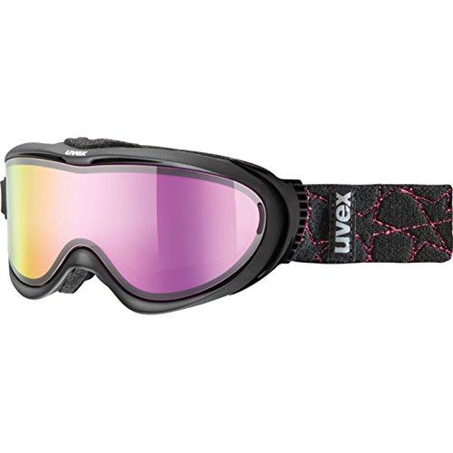 UVEX Skibrille comanche TO, Black/Litemirror Pink, One size
