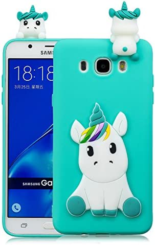 Coque Samsung Galaxy J5 2016 Silicone avec Motif 3D Licorne Bleu Clair Housse pour Samsung J5 2016 / J510 Ultra Fine TPU Souple Étui Cute Mignon Slim ...
