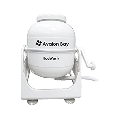 Avalon Bay Ecowash Portable Hand Cranked Manual Clothes Non-Electric Washing Machine by, Counter Top Washer for Camping, Apartments, RV's, or Delicates