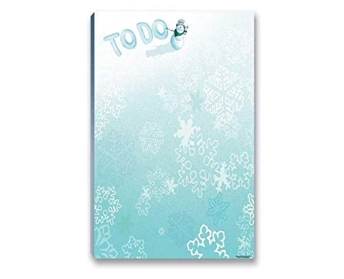 """Holiday Snowman To Do List Notepad with Magnet - 8.5"""" x 5.5"""" - Christmas Notepads 50 Sheets - Winter Theme Notepads - Grocery, Shopping, Daily Tasks List (Snowman)"""