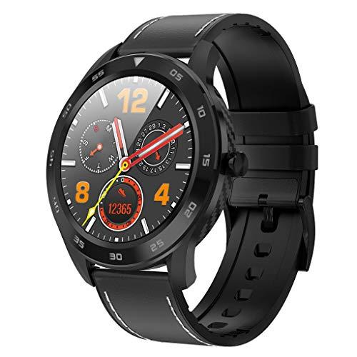 APCHY Reloj Inteligente Smart Watch,Rastreadores De Actividades De Llamada De Bluetooth Círculo Completo,Detección De ECG De Marcación Múltiple, Pedómetro Deportivo Inteligente IP68,Ritmo Cardíaco,E