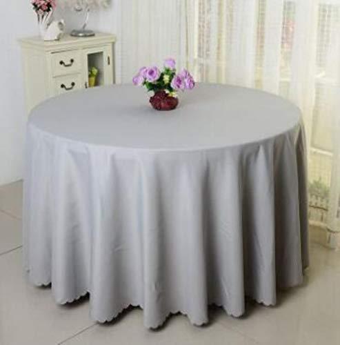 EDCV Bruiloft Hotel Tafelkleed Tafelkleed Overlay tapetes Tafelkleed Zwart 10ST Polyester Rond Wit Tafelkleed Voor, Grijs