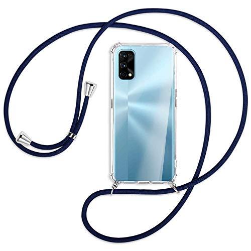 mtb more energy Collar Smartphone para Realme 7 Pro (6.4'') - Azul Oscuro - Funda Protectora ponible - Carcasa Anti Shock con Cuerda Correa
