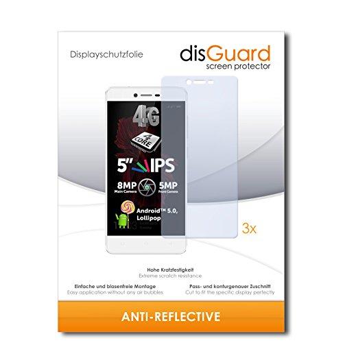 disGuard® Bildschirmschutzfolie [Anti-Reflex] kompatibel mit Allview X2 Soul Lite [3 Stück] Entspiegelnd, Matt, Antireflektierend, Extrem Kratzfest, Anti-Fingerabdruck - Panzerglas Folie, Schutzfolie