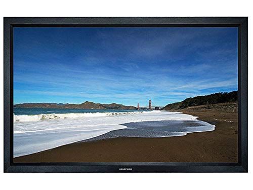 Monoprice Fixed Frame Projection Screen (8cm Aluminum Frame w/ Velvet Wrapped) - HD White Fabric (120 inch, 16:9)