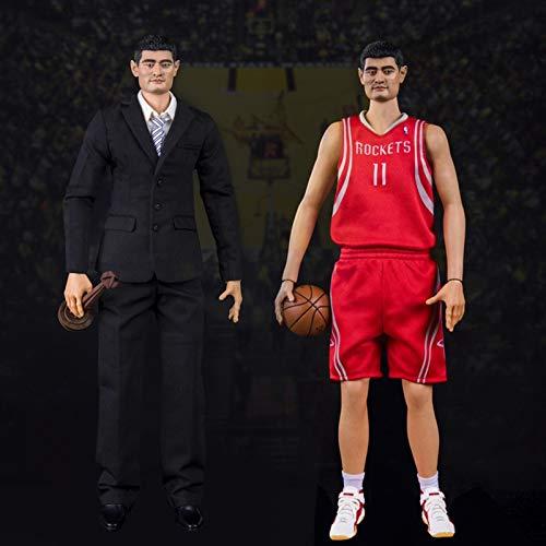 NBA Houston Rockets Yao Ming Figura De Acción 1/6 PVC De Protección del Medio Ambiente Estatuas De Juguete para Colección De Aficionados