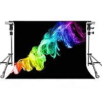 スタイリッシュなシンプル背景 カラー抽象画 ブラック写真背景 MEETSIOY 10x7フィート テーマパーティー 写真ブース YouTubeバックドロップ GEMT1345