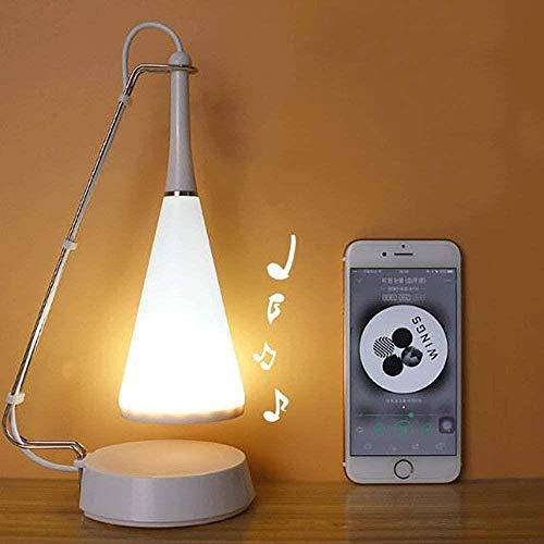 LED Night Lamp Touch Sensor tafellamp verduisteren USB-poort Dimbare Eye Caring bureaulamp met Touch Senor Remote Control USB muziek (wit)