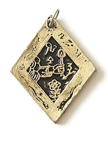 Tierra divinatoria amuleto y talismán protección – Joyas esotéricas – en colgante o en seda – Con poder sobre las buenas ocasiones – 100% sin tinte – Fabricación europea