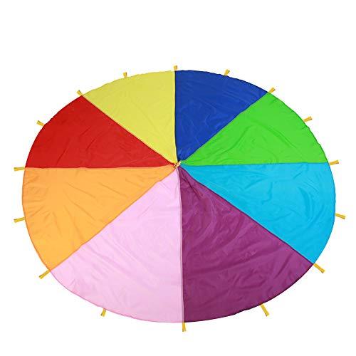 Yisentno Juguetes, Juego Resistente y Duradero, paracaídas, Tela Oxford Resistente a la abrasión para niños para Exteriores(6 Meters)