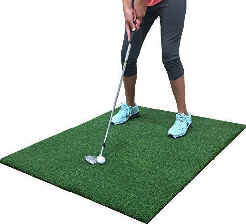 Premium Par 3' Feet X 3' Feet Backyard Golf Practice Hitting Mat - Indoor/Outdoor Residential Golf Stance Mat