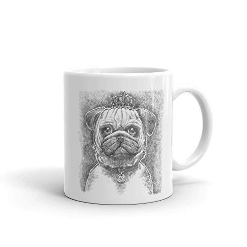 Alicert5II Koffiemok, mok, schattige mops-koffiemok, mops-tekening, koffiekopje, mops-houder-beker, huisdier-liefhebbers, beker, mops-mamma-beker