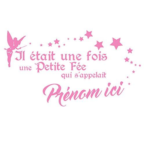 Sticker Personnalisable la Petite Fée Rose Clair 50x30 cm