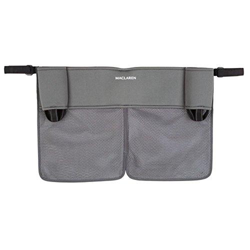 Maclaren Organizador Universal doble para tener lo esencial siempre a mano, se adapta a la mayoría de las marcas, accesorio adecuado para sillas de paseo, Multicolor (Charcoal/Charcoal)