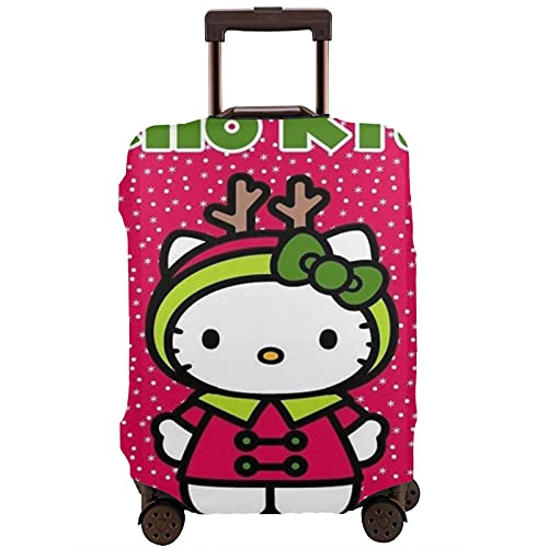 Hello Kitty - Protector de maleta de viaje único, lavable, bonito e interesante reconocimiento elástico, White, L,