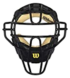Wilson Sporting Goods Dyna-Lite Steel Cage Two Tone Black and Leather Umpire's Facemask , 10 Inch