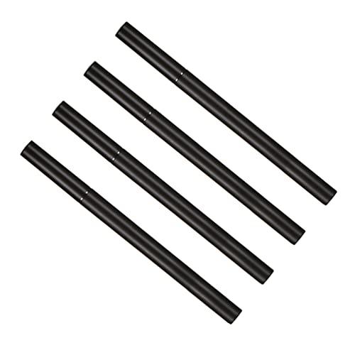 Lurrose 4 peças vazio delineador caneta tubo com bola de aço recarregável, delineador líquido, frasco faça-você-mesmo, recipiente cosmético, brilho labial, 1 ml