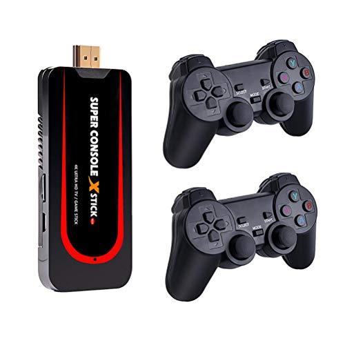 BICBLL Consola de Juegos Retro, Super Console X Stick, Mini Reproductor de Videojuegos de TV, más de 50000 Juegos Integrados, 54 emuladores Consola de Juegos clásica portátil Sistema Linux Abierto