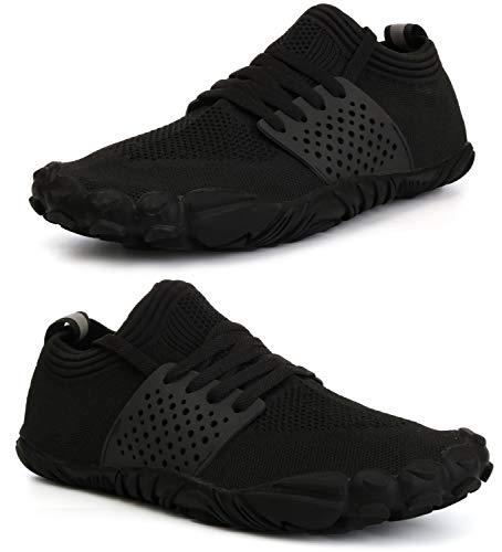 WHITIN Men's Cross-Trainer | Barefoot & Minimalist Shoe |, 2_ Black, Size 8.0