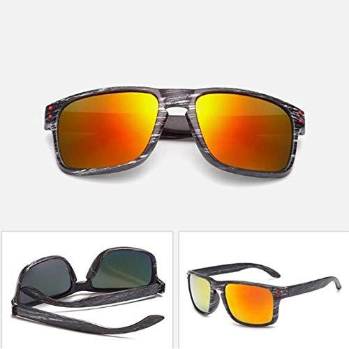 occhiali da sole Sunglasses Occhiali Da Sole Vintage In Finta Essenza Di Legno Occhiali Da Sole Per Donna Designer Di Gambe In Legno Unici Occhiali Specchio Riflettente Nero Rosso