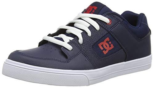 DC Shoes Pure, Chaussures de Skateboard Homme, Bleu (Navy/White Nwh), 37 EU