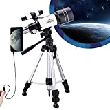 MAXLAPTER Telescope for Kids Astronomy Beginners, 150X Portable Travel Scope 300/70 HD Large
