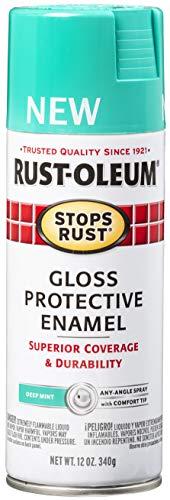 Rust-Oleum 347027 Stops Rust Spray Paint, 12 Oz, Gloss Deep Mint, 12 Ounce