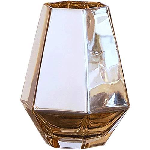 SCDZS De Oro de Cristal del florero Decoración Salón Comedor Botella Tabla Irregular TV Gabinete nórdica Pequeño Centro de Flores Inicio Suave Decoración