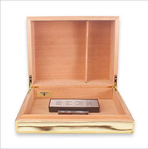 LHFJ Cigar Humidor Cedro Organizador de cigarros de Madera Combinación de Cereales de Madera Caja de cigarros para 40 cigarros