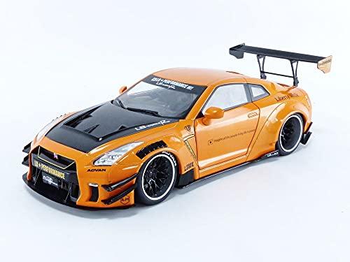 Solido Nissan GTR R35 LB Works Type 2 2020-Maqueta de Coche (Escala 1:18), Color Naranja (S1805803)