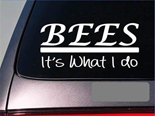 Autosticker, bijen, sticker, honing, Imker, bijenstok, souper, kam, stuifmeel, kaars, bijen, ramen, sticker, 20 cm