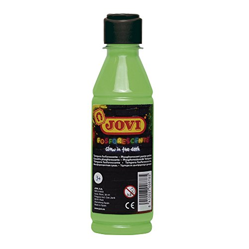 Jovi Fosforescente témpera, 250 ml, Color Verde (51917)